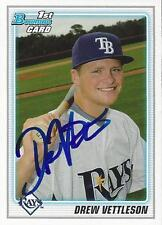 Drew Vettleson Tampa Bay Rays 2010 Bowman Signed Card