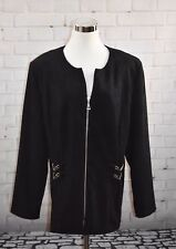 5657dd9d4b Vintage Exclusively For You Lord   Taylor Lined Black Jacket Coat Size 20W