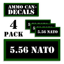 "5.56 NATO Ammo Can 4x Labels  Ammunition Case 3""x1.15"" stickers decals 4 pack"