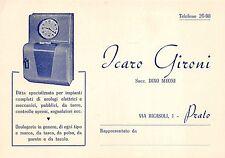 4547) PRATO, ICARO GIRONI, OROLOGI ELETTRICI E MECCANICI.