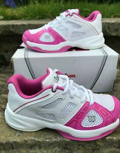 Wilson Tennis Shoe Rush Pro Junior 2 - Kids UK 3.5 EUR 36 1/2 New!Wht/Pink