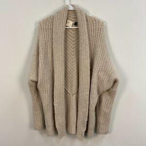 Anthropologie Sleeping On Snow XS Cardigan Sweater Top Wool Alpaca Cream OSJ08
