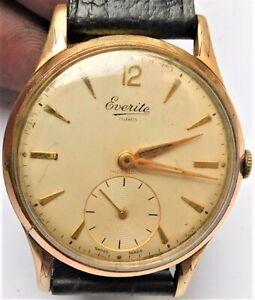 NO RESERVE Retro 1960's Swiss Everite Vintage Mechanical Wristwatch