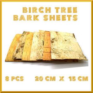 8 X BIRCH TREE BARK SHEETS RUSTIC BRIDAL WEDDING VENUE DECORATIVE SHAPES CRA NEW