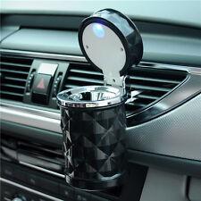 Portable Car LED Light Ashtray Auto Travel Cigarette Ash Holder Cup Black