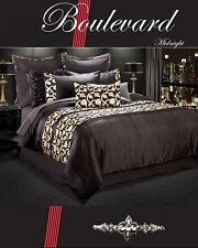 Boulevard Midnight Duvet | Doona Quilt Cover Set by Red Carpet | 4 Piece | King