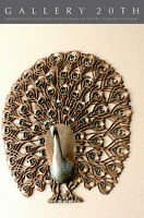 MONUMENTAL! MID CENTURY MODERN PEACOCK WALL ART! PERSPEX 50S 60S SCULPTURE RETRO