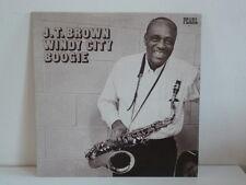 J.T. BROWN ( BLUES LP ) WINDY CITY BOOGIE - DELMARK, PEARL PL-9 - SAX HONKER -EX