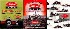 1948-1952 Ford 8N set of 3 Sales Brochures - Tractor and Implement Catalogs