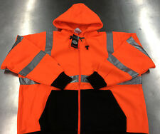 TINGLEY S78129 Job Sight Hi-Vis Orange Hooded Zip Sweatshirt Class 3 Size 5X