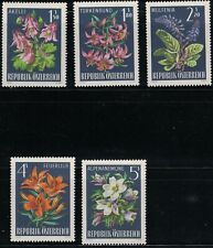 Europe Stamps Austria 1966 Fruits Flowers Cherries Apricots Grapes Strawberries Set Mnh