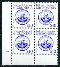 Micronesia MNH Stamps - Sc# 39 Plate Block - National Seal
