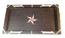 NICE 19TH CENTURY SAILOR MADE TRAY WITH PATTERNS AND NORTH STAR