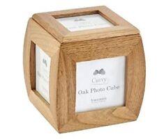 Caja Cubo Foto Marco De Roble Sólido