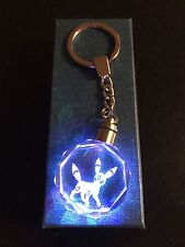 Pokemon Go Umbreon LED Crystal Keychain Eevee Gold Star Original & Gift Box