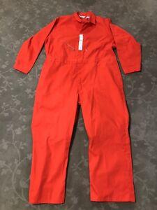 Walls Work Men's Long Sleeve Coverall Prison Costume Jumpsuit Orange Size 54 Reg