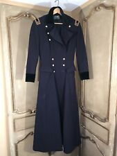 Ralph Lauren Womens Military Navy Blue Wool Double Breasted Trench Coat Size 6