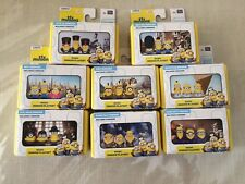 NEW Minions Micro Playset Complete Set Of 8 - Vive LE,British,NYC,Bored, Eye+