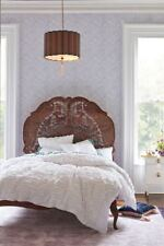 ANTHROPOLOGIE WHITE RUFFLED QUEEN DUVET COVER + 2 STANDARD SHAMS *BRAND NEW*