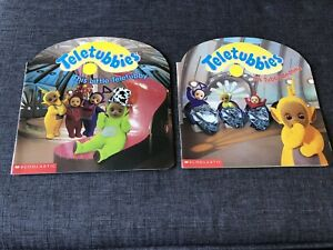 2 Teletubbies Books: It's Tubby Bedtime & This Little Teletubby -1999 Scholastic