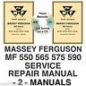 Massey Ferguson 500 Tractor -2- SERVICE MANUALS 550 565 575 590 MF550 MF590 CD
