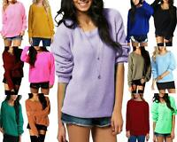 Ladies Chunky Knit Loose Baggy Oversized Jumper Top Womens Long Sleeve Sweater