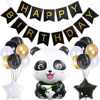 Cartoon Panda Theme Disposable Tableware Balloon Set Party Decoration Supplies Y