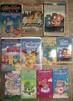 LOT OF 13 CARE BEARS VHS TAPES 3 BIG BOX KIDEO VIDEO MOVIE II GOOD LUCK FREESHIP