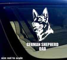 "German Shepherd DAD Decal Sticker Car Window Bumper I Love My Dog 5.5"" Inches"