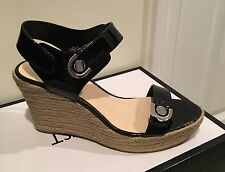 Nine West Women's Size 8M Black Open-Toed Wedge Sandals