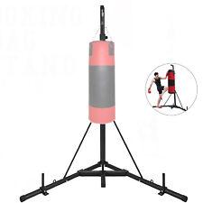 60kg Support de Sac de Frappe Boxe Fixation Barre Acier Pliant pour Gym Fitness