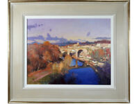 Peter Wileman 'The River Nidd, Knaresborough, Yorkshire' - Oil on Canvas, signed