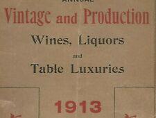 1913 liquor brandy wine whiskey catalog Alfred Osborn New York City Liquers Worn