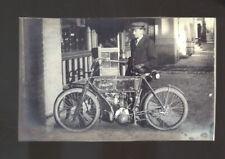REAL PHOTO VINTAGE TORPEDO MOTORCYCLE ADVERTISING POSTCARD COPY MOTORBIKE