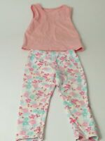 GIRLS X2 M&CO PEPPA PIG LEGGINGS MOTHERCARE PINK T-SHIRT VEST AGE 18-24 MONTHS