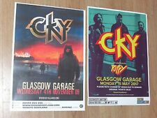 CKY - Scottish tour Glasgow concert gig posters x 2