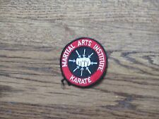 karate ,martial arts institute ,patch,new old stock, 1970's