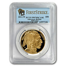 2012-W 1 oz Proof Gold Buffalo PR-70 PCGS (First Strike)