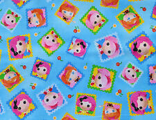 FAT QUARTER  CUTE AS A BUTTON LALALOOPSY QUILTING TREASURE COTTON FABRIC NURSERY