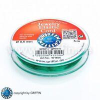 Elastic Cord 0,5 mm grün 5m-Spule Gummiband elastisches Band Griffin
