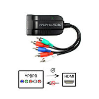 RGB YPbPr to HDMI Converter Supports 1080P Video Audio Converter Adapter