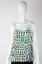 Paul Frank -Large- $60 Ladies White Blue Yellow Water Drops Cami Tank Top NWT LG