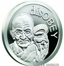 SILVER SHIELD 1 OZ PROOF | 2017 | DISOBEY #2 - GANDHI (GHANDI) SSG
