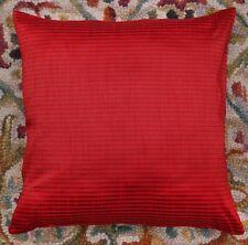 "Red 16 "" Striped Dupioni Silk Brocade Pillow Cushion Cover Sofa Throw Home Decor"