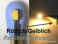 SMD LED 0603 SUPER GOLDEN WHITE RÖTLICH-GELBLICH +Litze very warm wit +litz wire