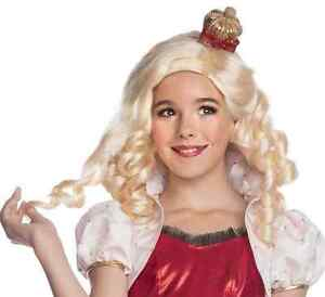 Apple White Wig Ever After High Fancy Dress Halloween Child Costume Accessory