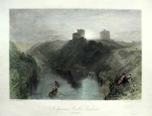 KILGARREN CASTLE PEMBROKE WALES BY J M W TURNER GENUINE ANTIQUE ENGRAVING  c1832