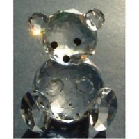 Kristall World Schliff Glas Teddybär Figur - Niedliche Tier Deko Geschenk