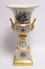 Jarrón de porcelana coleccionista oro deco trofeo h:34, 5 cm