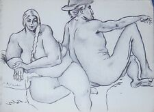 FIGURE DRAWINGS LOT~MALE & FEMALE NUDE~MAX GOTTFRIED~ORIGINAL PENCIL & INK